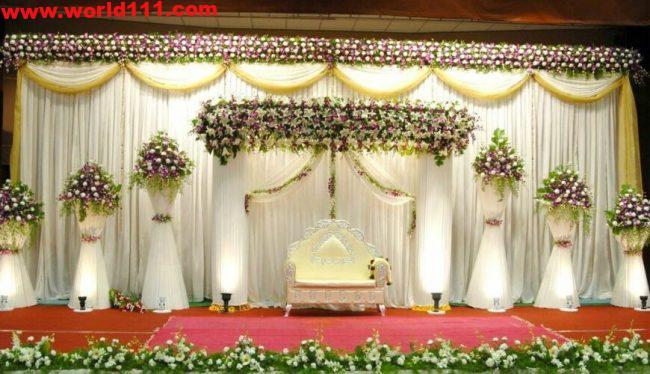 صور ديكورات لمسرح حفل الزفاف-0