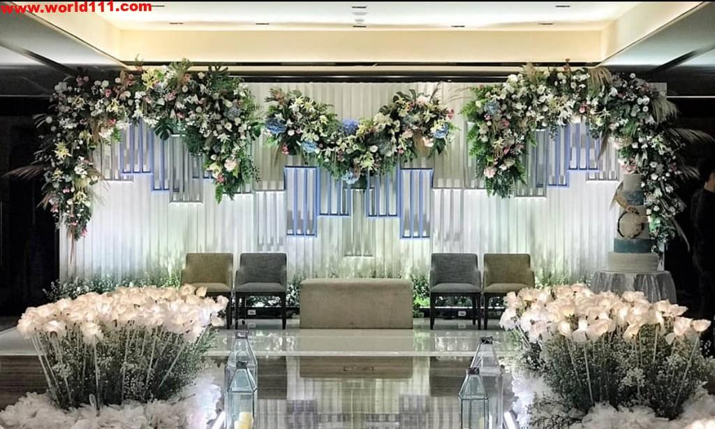 صور ديكورات لمسرح حفل الزفاف