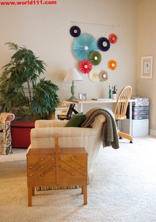 صور لأفكار لتصميم مكتب منزلي معاصر