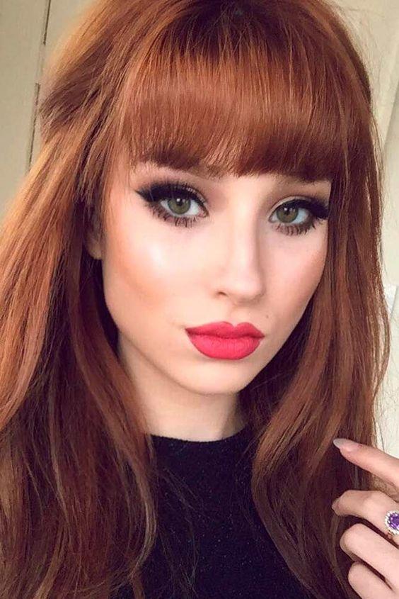 اجمل صور بنات كيوت 2021 صاحبات الشعر البني المحمر المميز