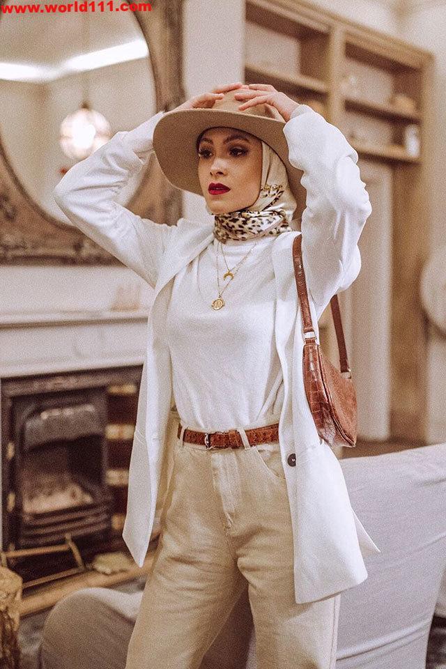 صور كيف يمكنك ارتداء القبعات مع الحجاب